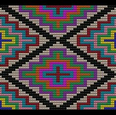 Tapestry Crochet Patterns, Bead Embroidery Patterns, Bead Loom Patterns, Cross Stitch Embroidery, Crochet Ripple, Crochet Chart, Cross Stitch Designs, Cross Stitch Patterns, Hello Kitty Crochet