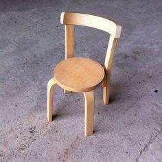 Alvar Aalto Style Kids Chair 1970s Scandinavian Design