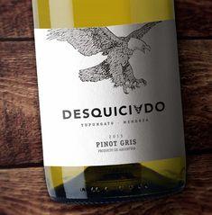 #Packaging #Design #Wines #GraphicDesign #Design #Label #NewProject #Desquiciado #DesquiciadoWine #Eagle #Illustration