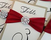 SAMPLE - Wedding Table Number Cards