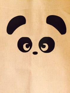 Hey, I found this really awesome Etsy listing at https://www.etsy.com/listing/474387107/panda-canvas-bag-zoo-shopper-bridal