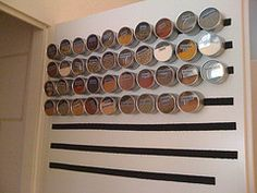 Alton Brown is smart. Great idea for spices, sprinkles, etc! Home Organisation, Organization, Organizing, Rack Solutions, Alton Brown, Homemade Spices, Decorative Storage, Getting Organized, Decoration