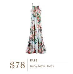 This maxi is stunning. Love the floral and flowy. Could dress it down with a jean jacket. Totally worth a strapless bra!!! https://www.stitchfix.com/referral/9934190?som=c&sod=i