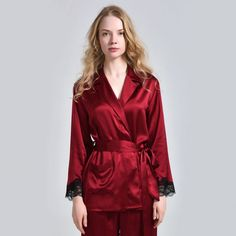 Lace Trim Ladies Silk Top Nightwear With Skincare - OOSilk Silk Sleepwear, Silk Pajamas, Nightwear, Satin Lingerie, Pretty Lingerie, Satin Dressing Gown, Silk Chemise, Satin Pyjama Set, Silk Top