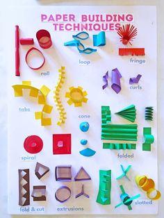 Setting up a cardboard art activity for kids 3d Paper Crafts, Paper Crafts For Kids, 3d Paper Art, Paper Paper, Foam Crafts, Paper Toys, Classe D'art, Sculpture Techniques, Cardboard Art