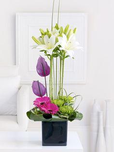 Lily and Anthurium Arrangement