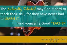 #SkillAcquisition Finding your best teacher. Hint: it may not be the No1