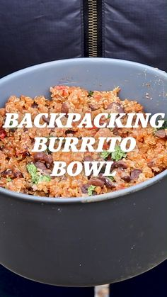 Hiking Discover Backpacking Recipe: Burrito Bowls Whats better than backpacking? Backpacking with burrito bowls. Dehydrated Backpacking Meals, Best Backpacking Food, Hiking Food, Dehydrated Food, Ultralight Backpacking, Hiking Tips, Hiking Gear, Healthy Camping Snacks, Vegetarian Burrito