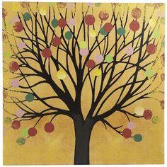Pier One Orange Happy Tree ($20) ❤ liked on Polyvore
