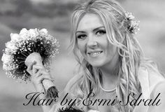Romantic Wedding Hairstyle For Medium/Long Hair With Flowers Hair by ermi Sdrali @Hairmine #style #wedding #bride #love #awesome #romantic #flowers #bestdayofmylife www.hairmine.gr