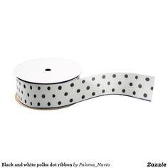 Black and white polka dot ribbon grosgrain ribbon - Paloma Navio