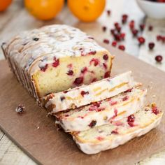 Orange-Cranberry Yogurt Loaf by sweetpeaskitchen #Loaf #Cake #Orange #Cranberry