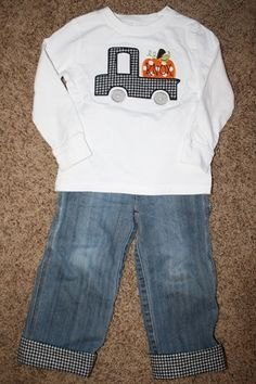Cuff too short jeans to get another year out of them!  Great idea!