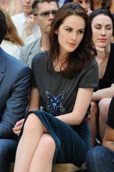 Michelle Dockery at Milan Fashion Week