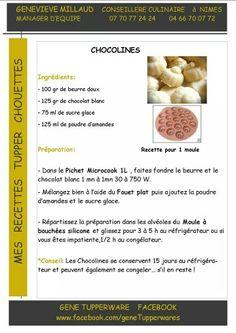 Tupperware - Chocolines chocolat blanc