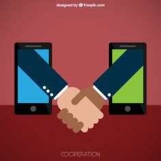 Business Cooperation Free Vector