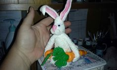 Mr. Peter Cottontail.   Made of fondant.