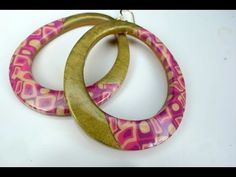 Polymer clay tutorial: Spring colored mosaic earrings / オーブン樹脂粘土で作る春色モザイ...