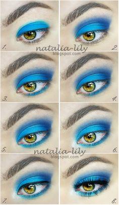 natalia-lily: Beauty Blog: Makijaż: mocny niebieski makijaż na wieczorne wyjścia (krok po kroku)