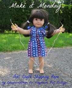 Dream. Dress. Play.: Make It Monday- Doll Craft Skipping Rope