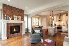 Image result for raised fireplace no hearth