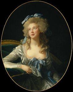 Madame Grand (Noël-Catherine Verlée, 1761–1835), Later Madame de Talleyrand-Périgord, Princesse de Bénévent  Élisabeth Louise Vigée Le Brun (French, Paris 1755–1842 Paris)  Date: 1783 Medium: Oil on canvas Dimensions: Oval, 36 1/4 x 28 1/2 in. (92.1 x 72.4 cm) Classification: Paintings Credit Line: Bequest of Edward S. Harkness, 1940 Accession Number: 50.135.2