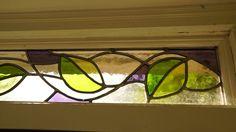 Close up of front door fanlight