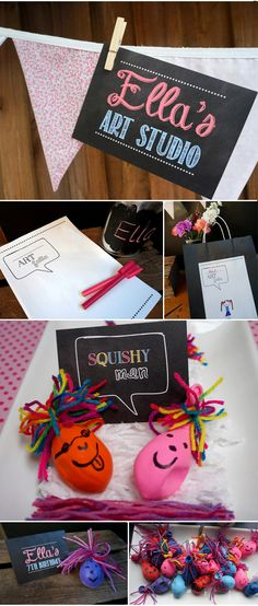 {Ellas Arty Party} Chalkboard Art Party Printables now in store