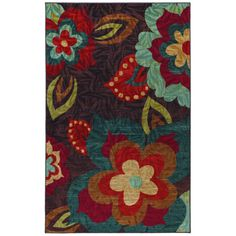 @Overstock - This retro, Ayanna Kaleidoscope floral-inspired rug is infused with rich, jewel tone hues for a unique look. You can instantly transform any room in your home with this luxurious, chic and durable tufted rug.http://www.overstock.com/Home-Garden/Ayanna-Kaleidoscope-Multi-Area-Rug/7512151/product.html?CID=214117 $114.99