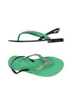 NANNI Women's Toe strap sandal Green 8 US