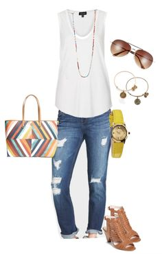 Spring outfit with the perfect Topshop tank and ripped jeans | Weekend Steals & Deals