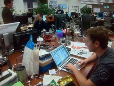 This is Mark Zuckerberg's desk at Facebook headquarters. There's hope for us all. viainothernews