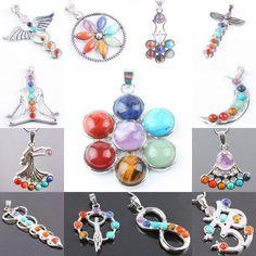 Mix Stone Healing Chakra Gem Bead Pendant - AtPerrys Healing Crystals - 1