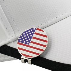 Golf Ball Marker with Hat Clip - US Flag - Golf Accessories - Smart Golf Shop Mark Price, New Golf, Golf Ball, Golf Shop, Golf Accessories, Flag Design, Markers, Hat, Trendy Watches