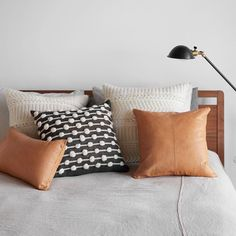 Cognac Leather Throw Pillow | Ethically Crafted in Argentina – The Citizenry