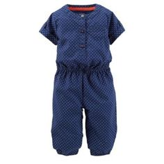 Carter's+Polka+Dot+Poplin+Coverall+-+Baby+Girl
