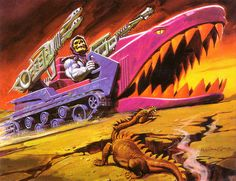 Masters Of The Universe - Land Shark (painting by William George) by Aeron Alfrey, via Flickr