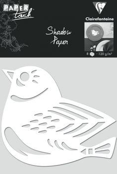 Scrapbooking - Shadow Paper 8 x Vogel, weiß - ein Designerstück von Captain-Office bei DaWanda