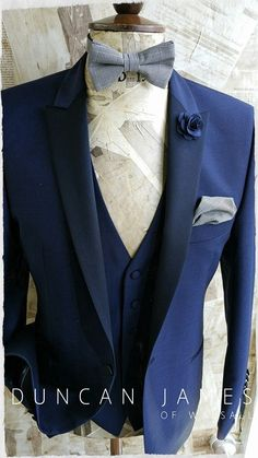 The Cobalt Blue Tuxedo outfit. New for 2016 menswear wedding style