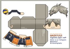 Paper Doll Template, Anime Crafts, Anime Figurines, Paper Crafts Origami, Anime Dolls, Paper Toys, Haikyuu Anime, Animes Wallpapers, Bts Tickets