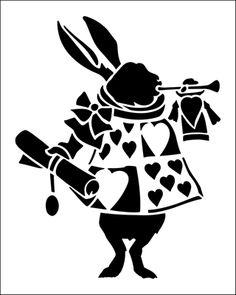 Buy White Rabbit 2 stencil from The Stencil Library range of CHILDREN stencils. Alice In Wonderland Poster, Alice In Wonderland Crafts, Alice In Wonderland Characters, Alice In Wonderland Wedding, Mad Hatter Party, Mad Hatter Tea, Cheshire Cat Pumpkin, Alice Rabbit, Stencils Online