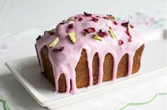 Rosewater drizzle cake recipe - goodtoknow... Rosewater drizzle cake is light and elegant, but very simple to make and topped with pretty icing, pistachios and edible rose petals for a beautiful bake...