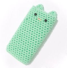 iPhone 6 Cover - Pastel Crocheted Kawaii Kitty by SugarJunkieShop