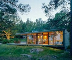 """Located in the Archipelago of Stockholm, Island House belongs to WRB Architects, a small architecture studio in Sweden, which mostly take on projects involving small private residences. Sometimes referred to as a """"cottage"""" or just a beautiful place of retreat, the Island House features an amazing view of the ocean and is located in a …"""