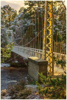 "The ""Golden Gate Bridge"" over Dee, Invercauld, Scotland"