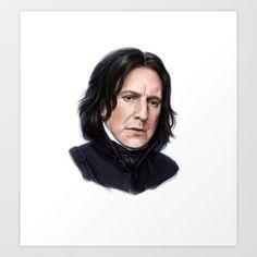 Sad Snape Art Print by Annike - $17.16