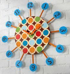 #DIY Retro Star Burst Wall Clock - 10 Easy DIY Wall #Clock Ideas For Room | DIY to Make