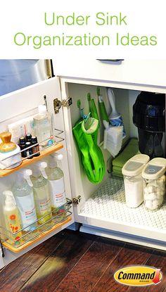 37 ideas for kitchen sink organization command strips Under Kitchen Sink Organization, Under Kitchen Sinks, Kitchen Wall Storage, Towel Organization, Home Organization Hacks, Organizing, Condo Kitchen, Kitchen Remodel, Kitchen Cabinets