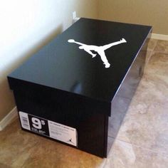 Air Jordan replica shoe box. Store up to 14 pairs of shoes. by Thenikebox on Etsy https://www.etsy.com/listing/220851931/air-jordan-replica-shoe-box-store-up-to
