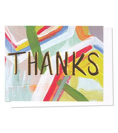 Thanks Gold Foil Card by Thimble Press £3.99